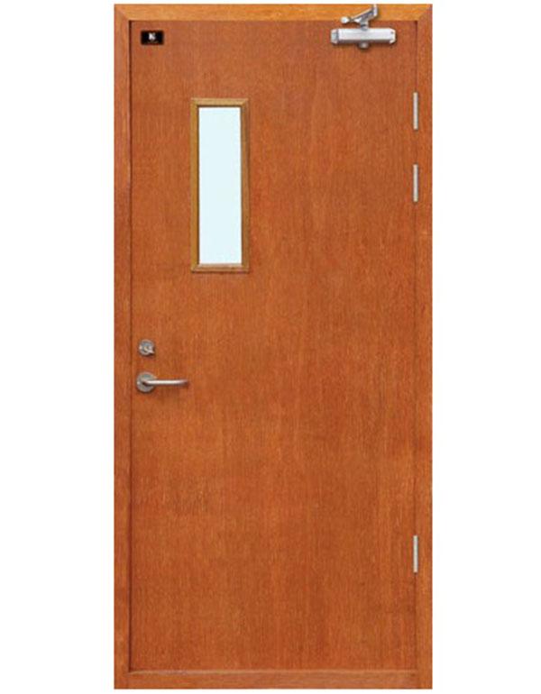 木质防火门单开门带玻璃
