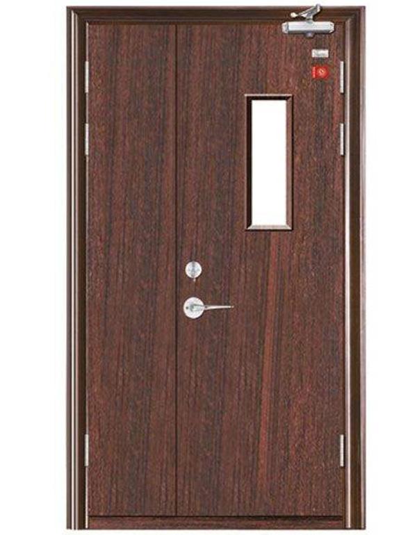 钢木质子母门带窗