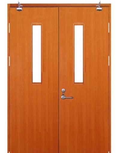 木质防火门双开门带玻璃